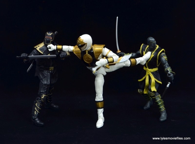 Power Rangers Lightning Collection White Ranger figure review - vs two ronin