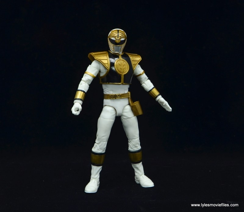Power Rangers Lightning Collection White Ranger figure review - wide