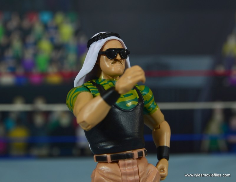 WWE Basic Sgt. Slaughter figure review - close up right
