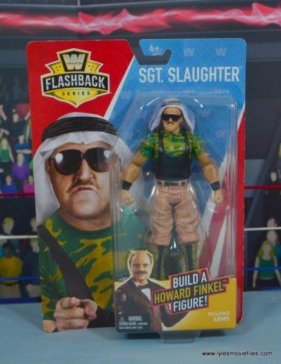WWE Basic Sgt. Slaughter figure review - package front