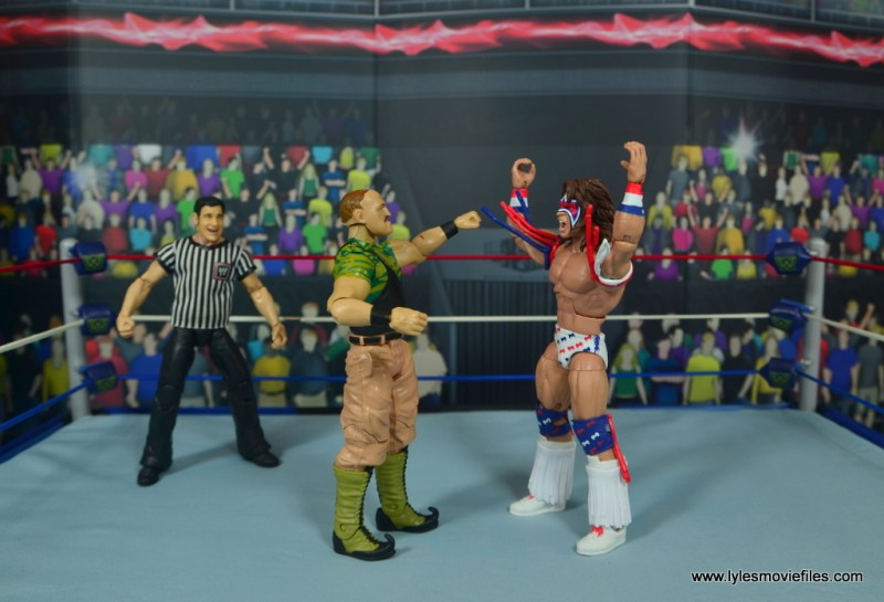 WWE Basic Sgt. Slaughter figure review - royal rumble 91 face off with ultimate warrior