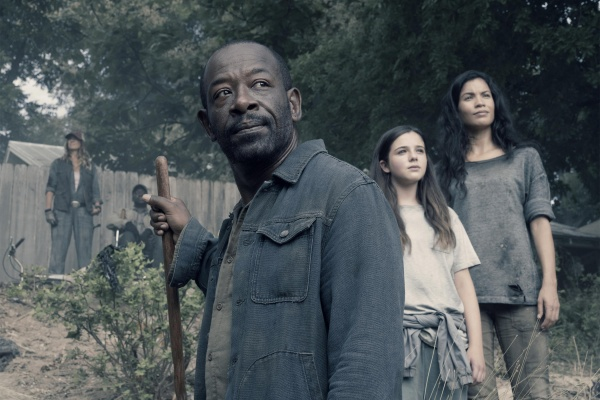 fear the walking dead i lose myself review - sarah, wendell, morgan, charlie and luciana