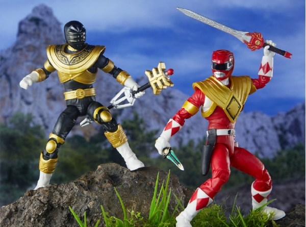 hasbro sdcc 2019 lightning collection red ranger and zeo gold ranger loose