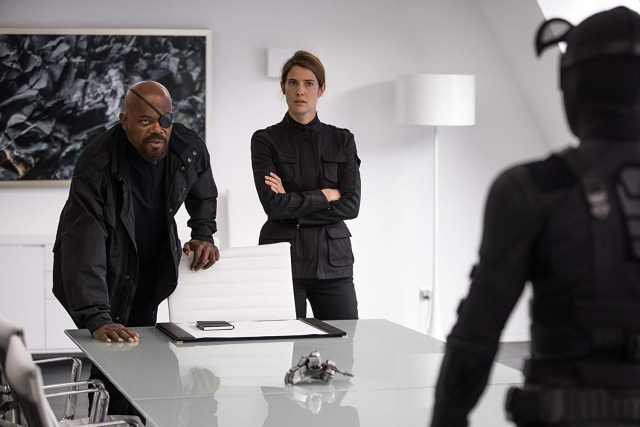 spider-man far from home review - nick fury, maria hill and spider-man