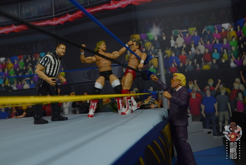 wwe build-a-figure jj dillon figure review - distracting the ref