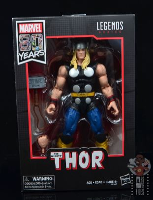 Marvel Legends 80th Thor figure review - package front