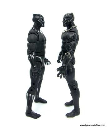 Marvel Legends Black Panther BAF Okoye figure review - face to face with civil war black panther