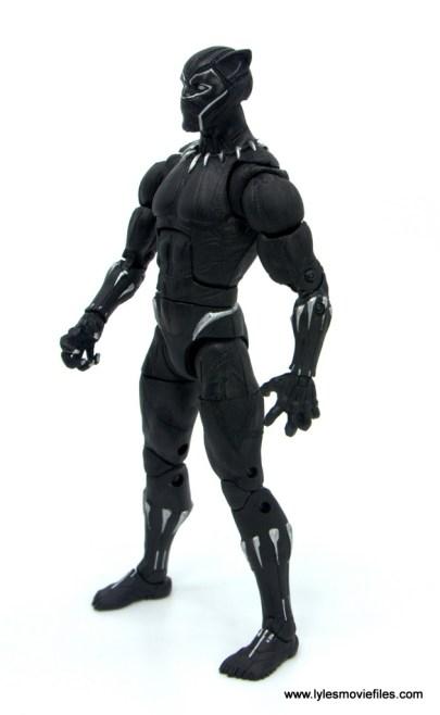 Marvel Legends Black Panther BAF Okoye figure review - left side