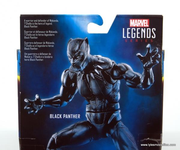 Marvel Legends Black Panther BAF Okoye figure review - package bio