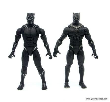 Marvel Legends Black Panther BAF Okoye figure review - with captain america civil war black panther