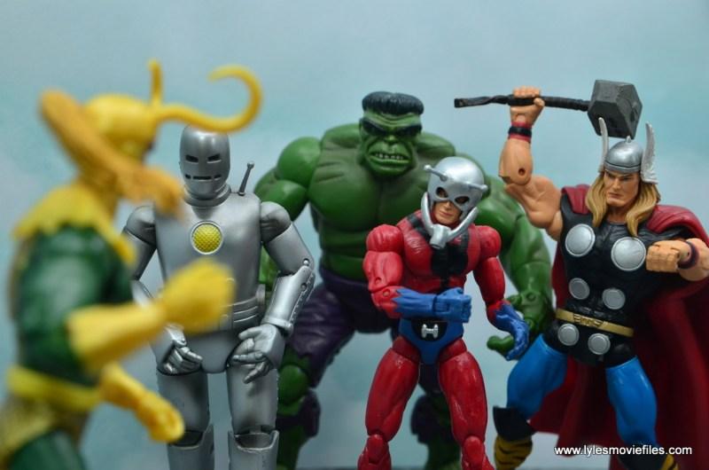 Marvel Legends Loki figure review - facing the avengers