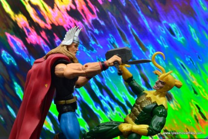 Marvel Legends Loki figure review - losing to thor