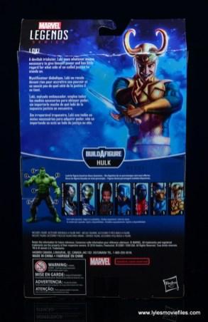 Marvel Legends Loki figure review - package rear