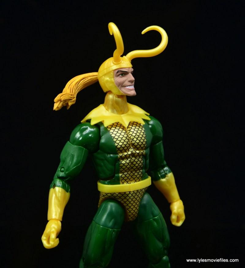 Marvel Legends Loki figure review - ponytail detail