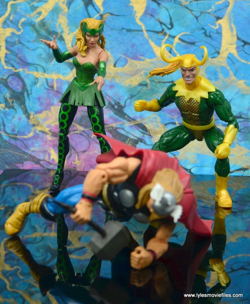 Marvel Legends Loki figure review - teaming with enchantress to beat thor