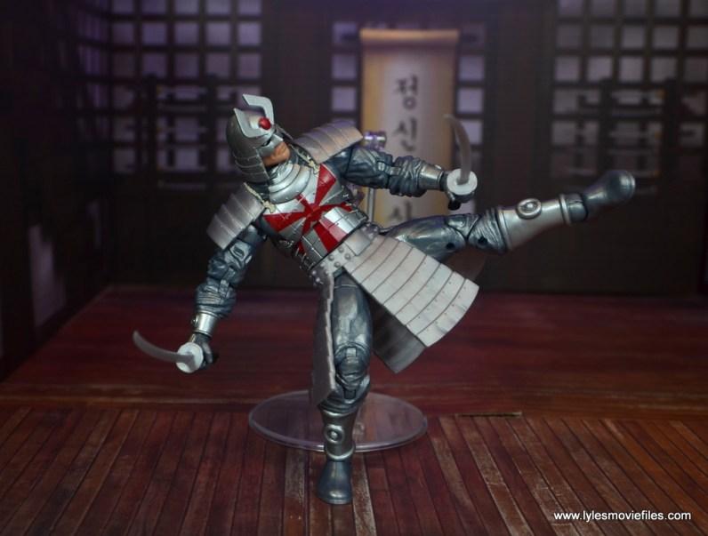 Marvel Legends Silver Samurai figure review - kicking