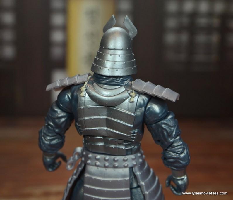 Marvel Legends Silver Samurai figure review - rear details close up