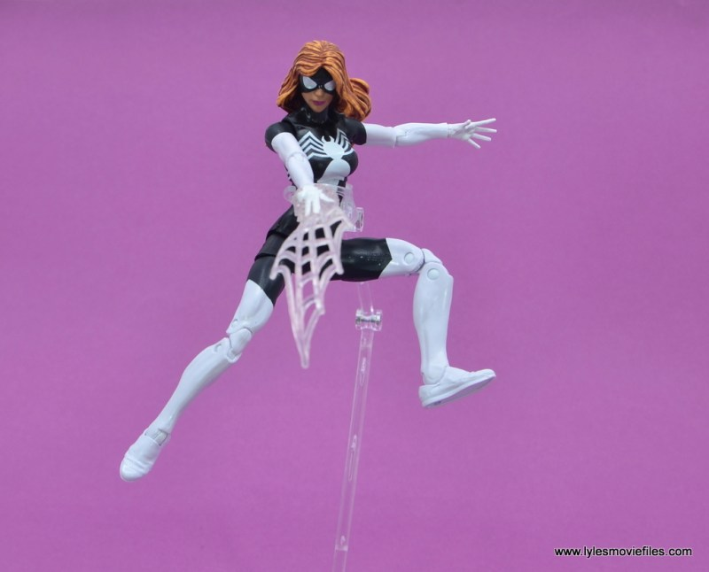 Marvel Legends Spider-Woman figure review - leaping into air