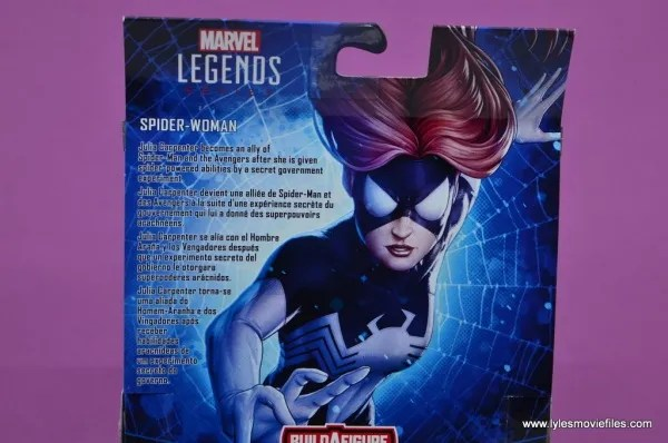 Marvel Legends Spider-Woman figure review - package bio