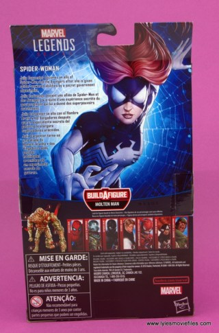 Marvel Legends Spider-Woman figure review -package rear