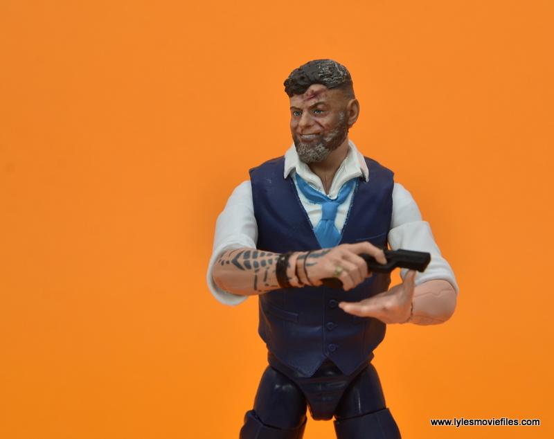 Marvel Legends Ulysses Klaue figure review - cradling pistol