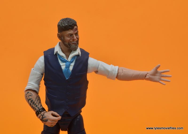 Marvel Legends Ulysses Klaue figure review - fake arm detail