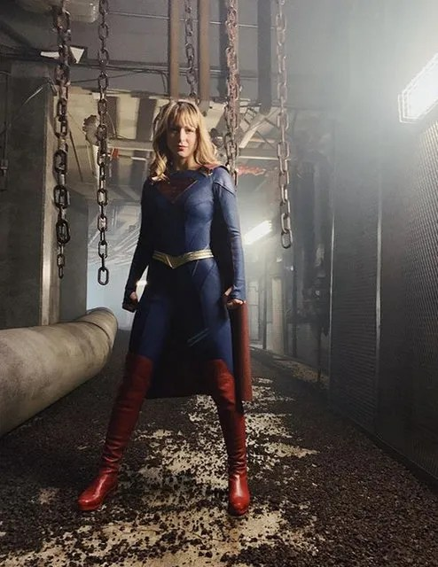 Melissa Benoist in new supergirl suit on Instagram