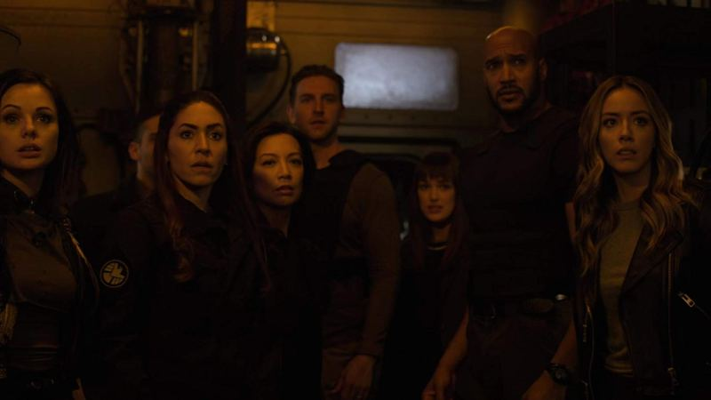 agents of shield collision course part 2 review - snowflake. elena, may, davis, jemma, mack and daisy