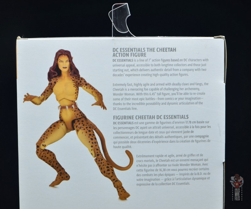 dc essentials cheetah figure review - package bio