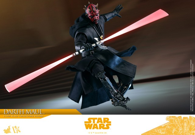 hot toys solo a star wars story darth maul figure - leaping