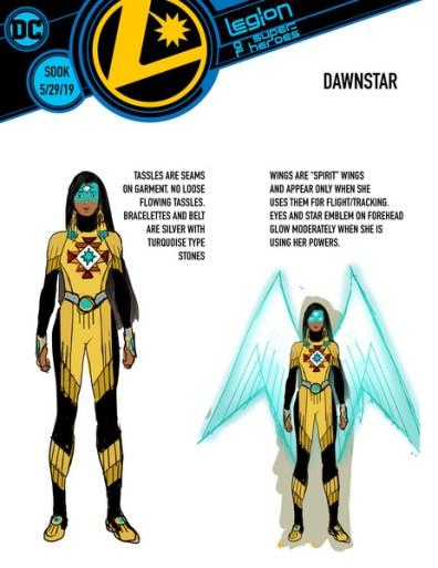 legion of super heroes redesigns - dawnstar
