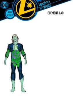 legion of super heroes redesigns - element lad