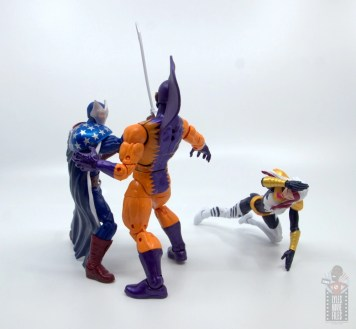 marvel legends citizen v figure review - knocking out tiger shark