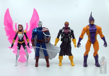 marvel legends citizen v figure review - scale with songbird, baron zemo and tiger shark