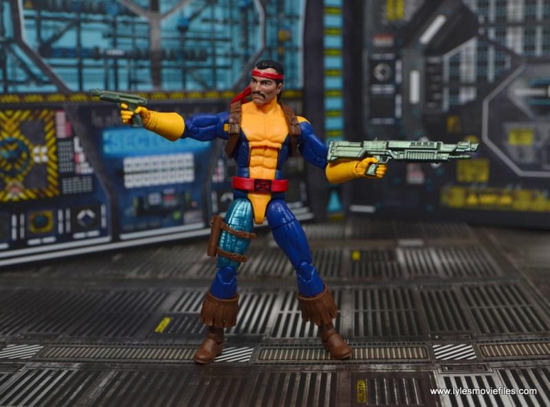 marvel legends forge figure review - holding both guns