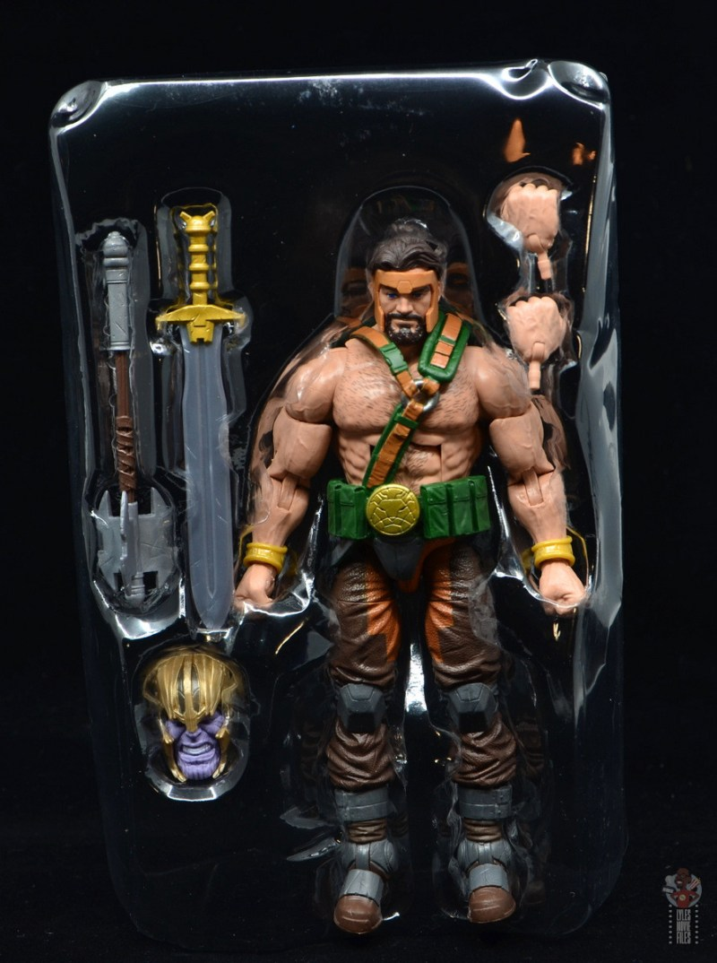 marvel legends hercules figure review - accessories in tray