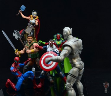 marvel legends hercules figure review - avengers facing off against ultron