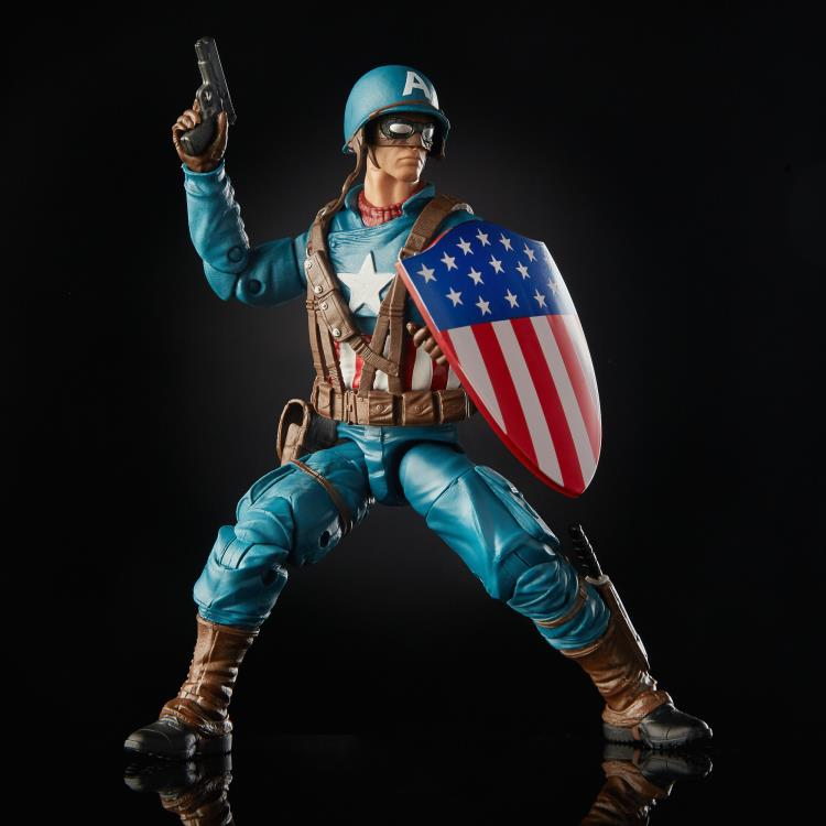 marvel legends ultimate captain america figure - with all accessories