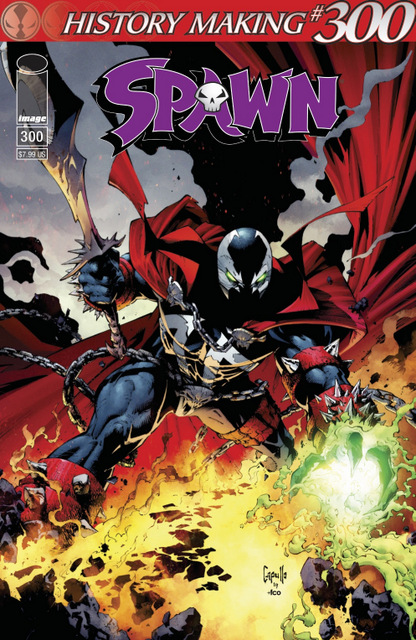 spawn #300 cover title treatment cover