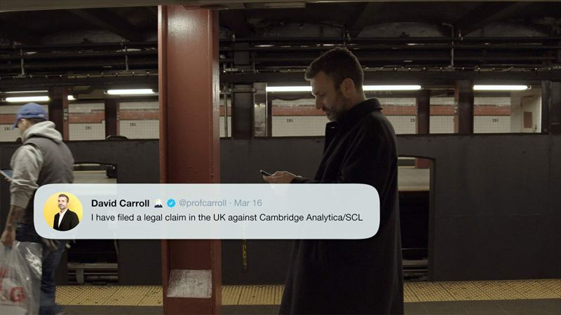 the great hack movie review - david carroll tweeting