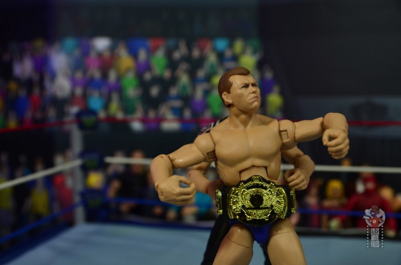 wwe elite bob backlund figure review - wearing wwf title