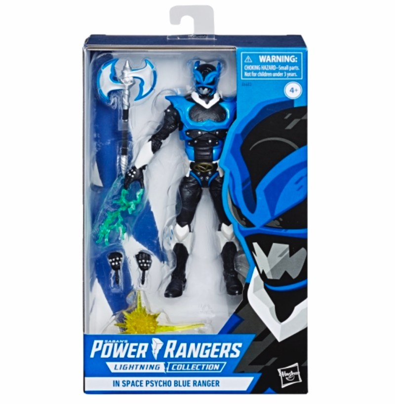 power rangers lightning collection space psycho blue ranger figure - in package
