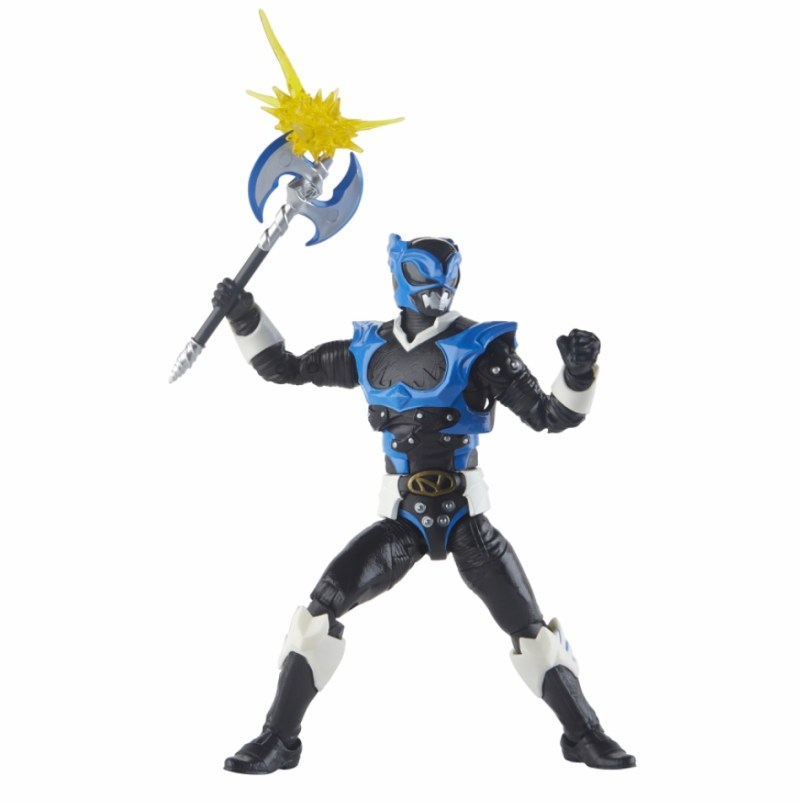 power rangers lightning collection space psycho blue ranger figure - with axe effect