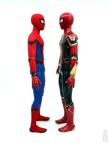 hot toys avengers infinity war iron spider figure review - facing homecoming spider-man