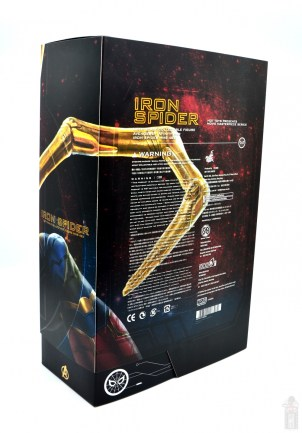 hot toys avengers infinity war iron spider figure review -package diagnoal