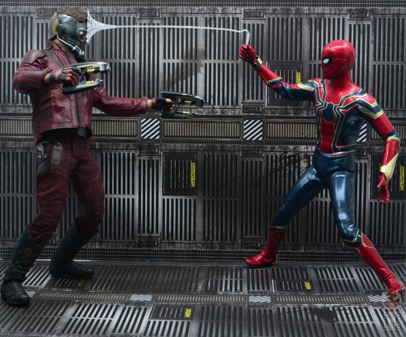 hot toys avengers infinity war iron spider figure review - vs star-lord