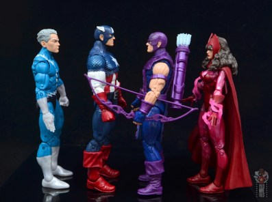 marvel legends captain america figure review 80th anniversary - facing quicksilver, hawkeye and scarlet witch