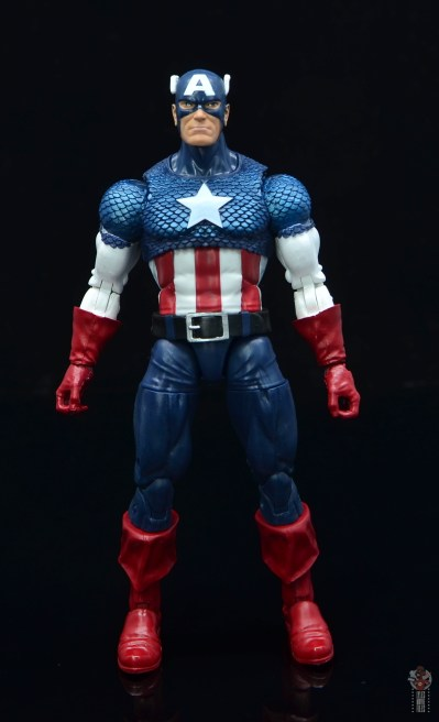 marvel legends captain america figure review 80th anniversary - front
