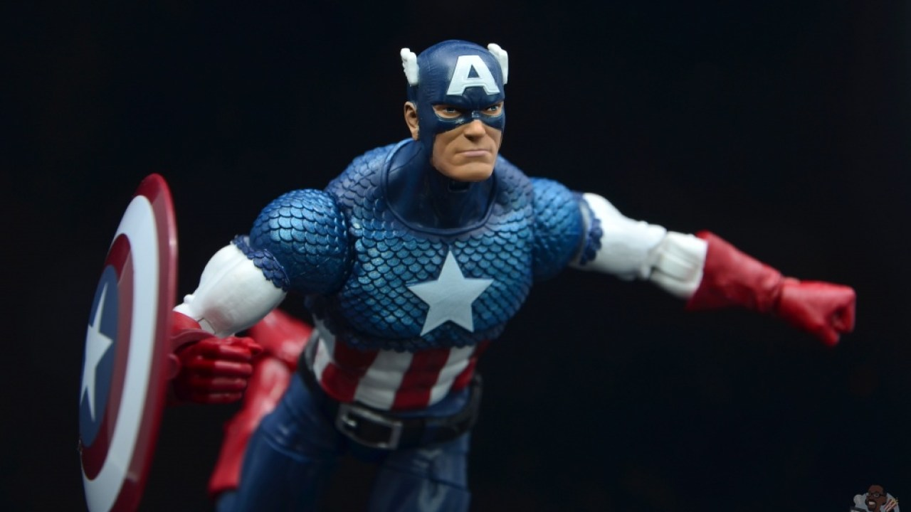 marvel legends captain america figure review 80th