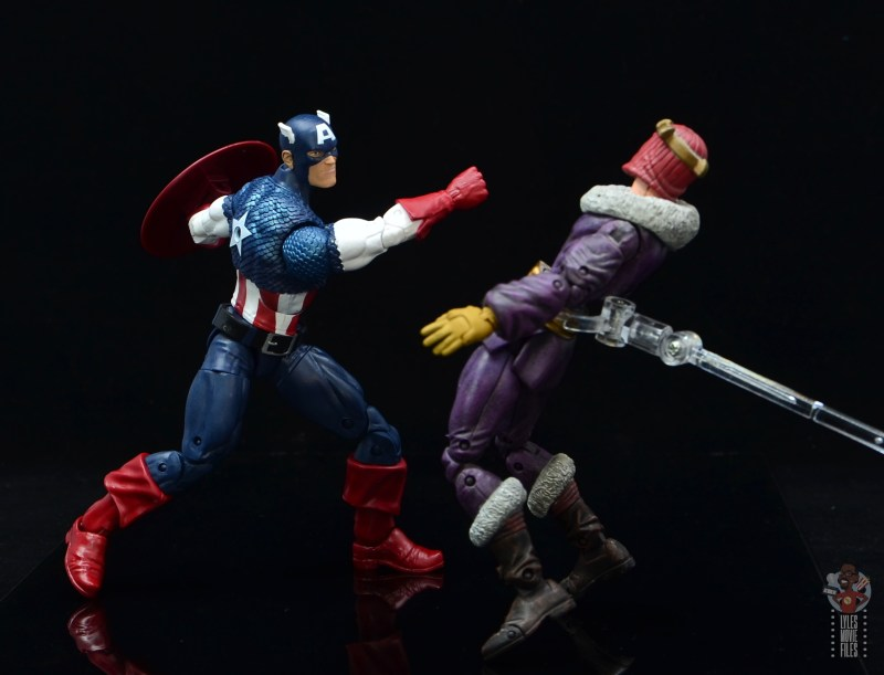 marvel legends captain america figure review 80th anniversary - vs baron zemo